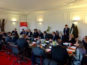 Rencontre A. de Montchalin Secretaire d'Etat aux Affaires Europeennes et les membres de la Franco-British Chamber