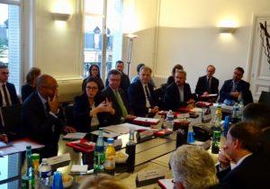 Réunion Mme la Secretaire d'Etat A. de Montchalin et les membres de la Franco-British Chamber