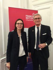 Mme la Secretaire d'Etat A. de Montchalin et T. Drilhon President de la Franco-British Chamber